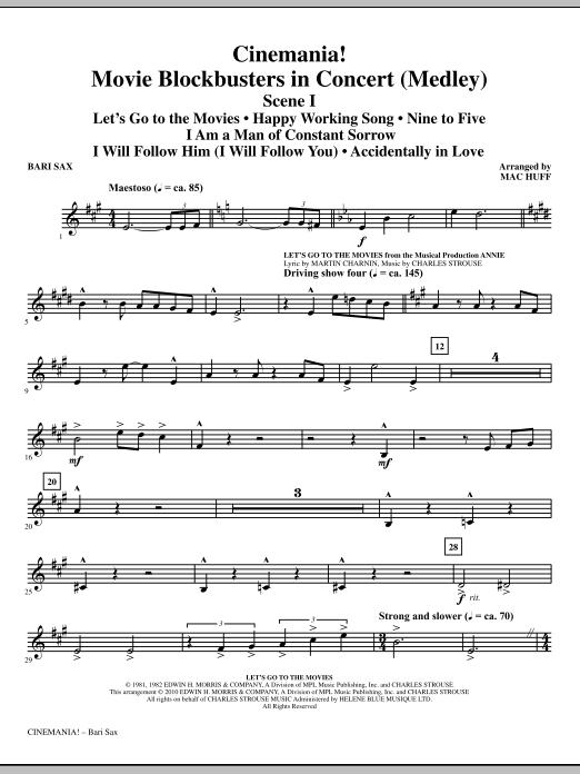 Cinemania! Movie Blockbusters In Concert (Medley) - Baritone Sax (Choir Instrumental Pak)