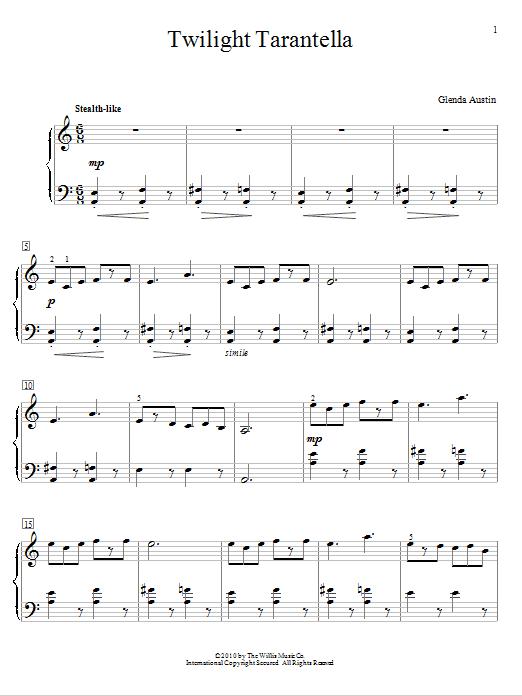 Twilight Tarantella (Educational Piano)