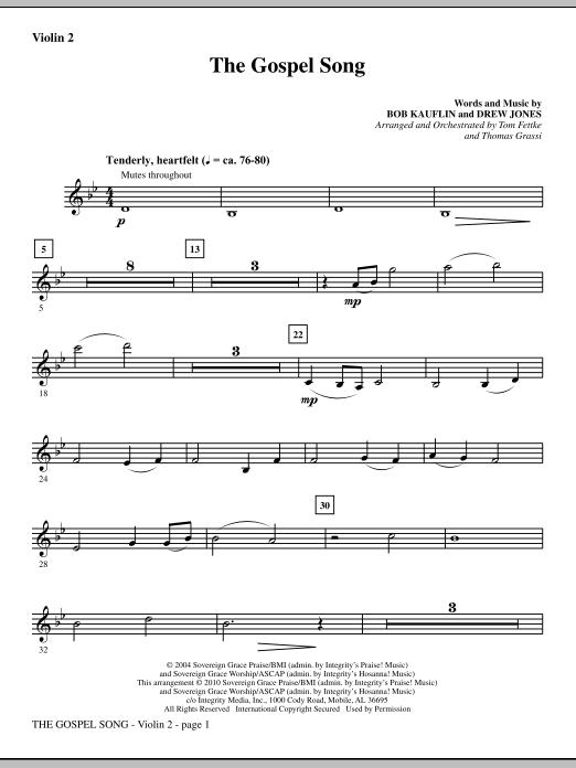 The Gospel Song - Violin 2 (Choir Instrumental Pak)