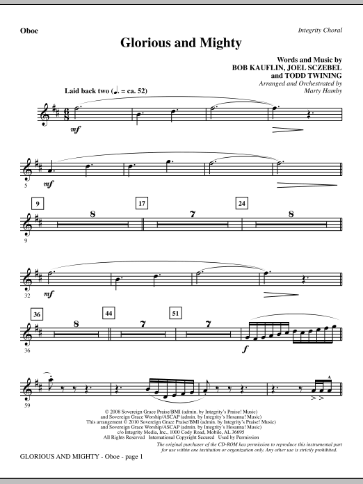 Glorious And Mighty - Oboe (Choir Instrumental Pak)