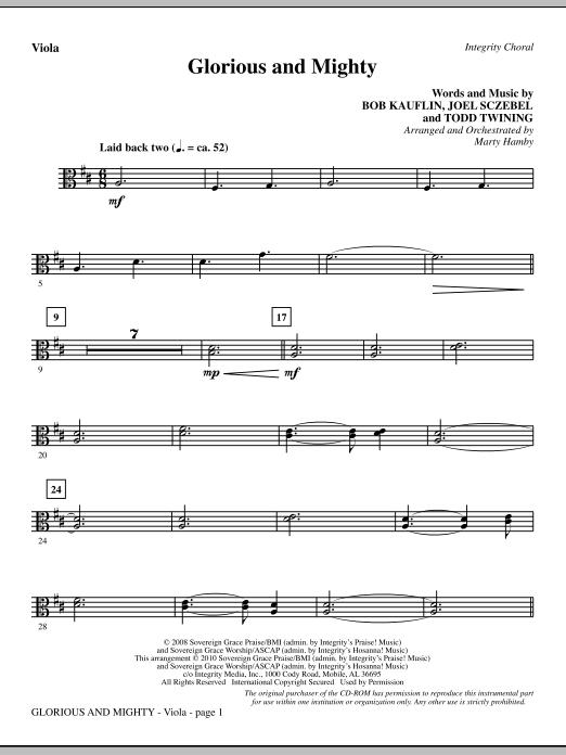 Glorious And Mighty - Viola (Choir Instrumental Pak)