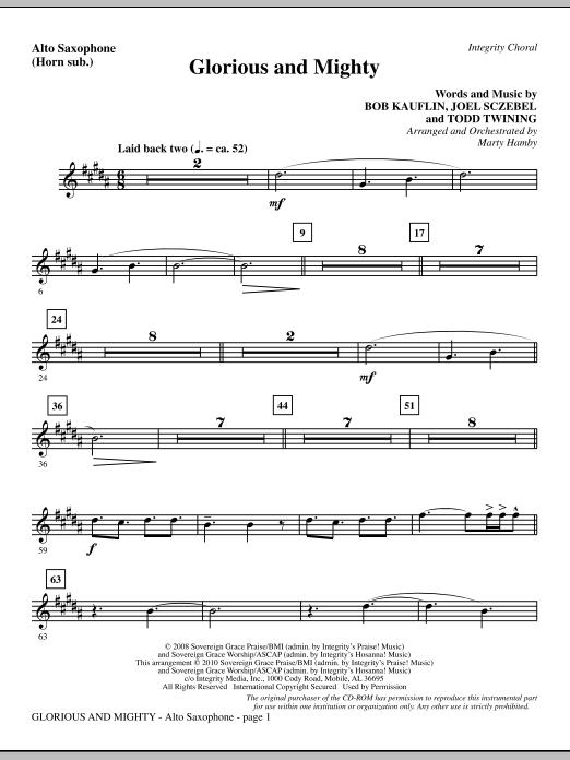 Glorious And Mighty - Alto Sax (sub. Horn) (Choir Instrumental Pak)
