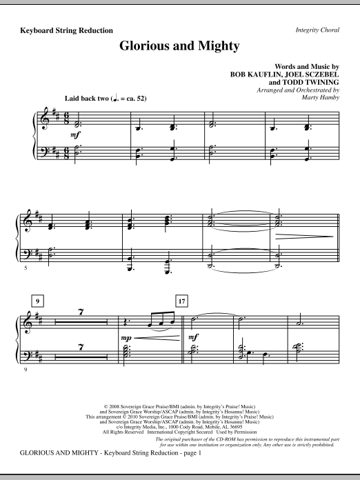 Glorious And Mighty - Keyboard String Reduction Sheet Music
