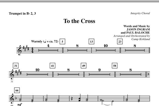 To The Cross - Trumpet 2 & 3 (Choir Instrumental Pak)