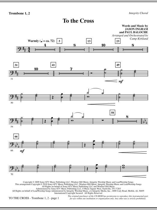 To The Cross - Trombone 1 & 2 (Choir Instrumental Pak)