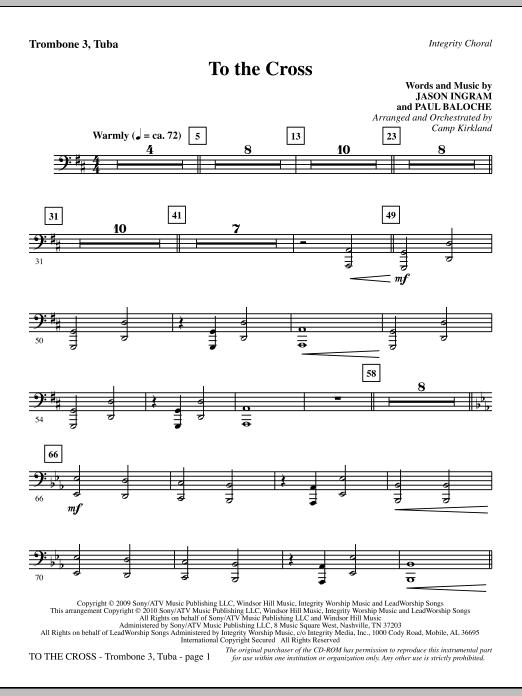 To The Cross - Trombone 3/Tuba (Choir Instrumental Pak)