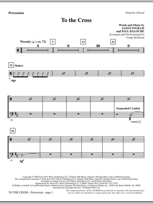 To The Cross - Percussion (Choir Instrumental Pak)