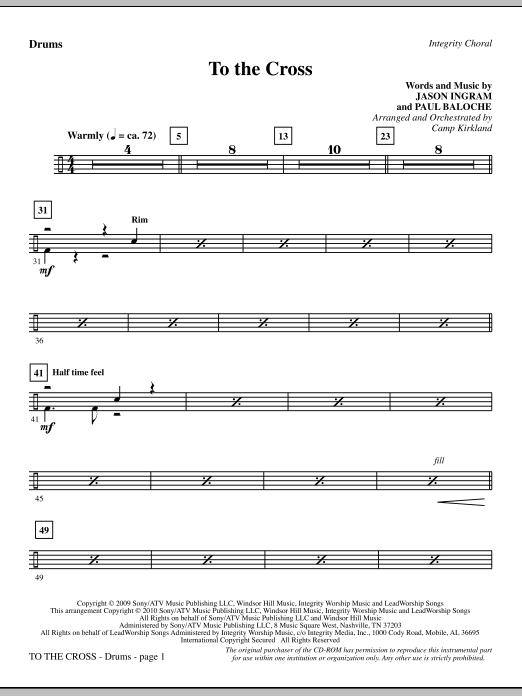 To The Cross - Drums (Choir Instrumental Pak)