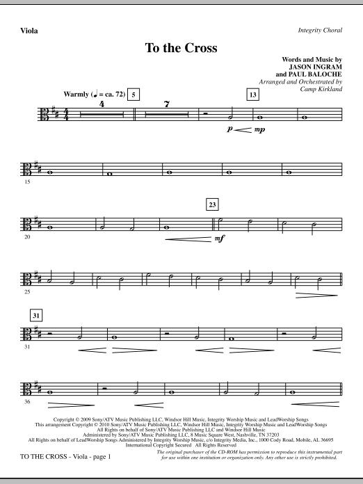 To The Cross - Viola (Choir Instrumental Pak)