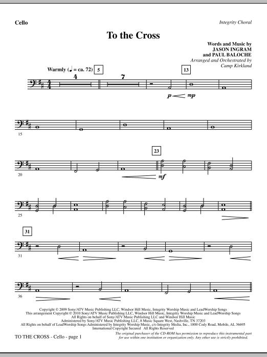 To The Cross - Cello (Choir Instrumental Pak)