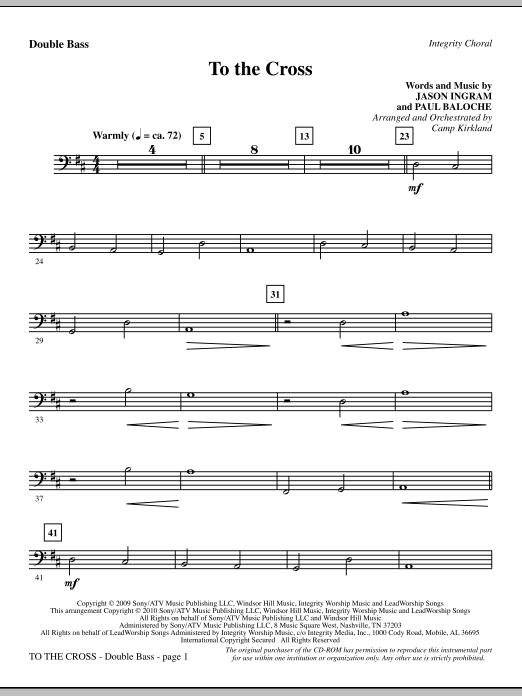 To The Cross - Double Bass (Choir Instrumental Pak)