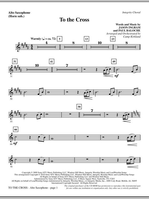 To The Cross - Alto Sax (sub. Horn) (Choir Instrumental Pak)