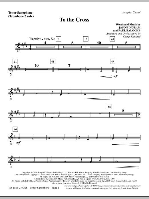 To The Cross - Tenor Sax (sub. Tbn 2) (Choir Instrumental Pak)