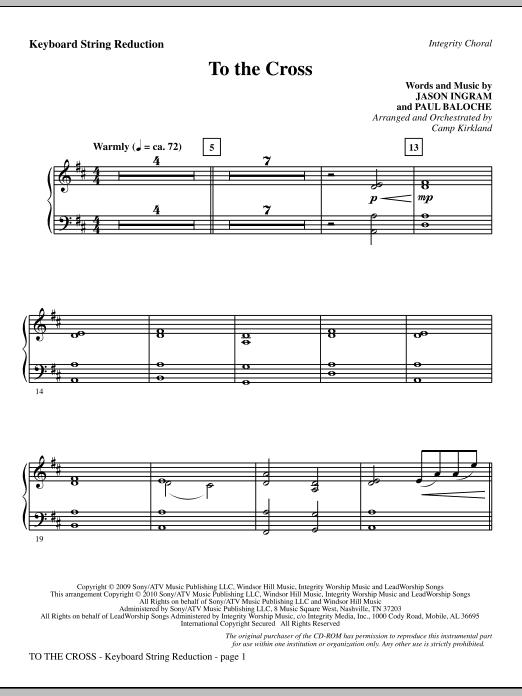 To The Cross - Keyboard String Reduction (Choir Instrumental Pak)