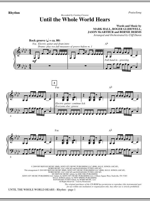 Until The Whole World Hears - Rhythm (Choir Instrumental Pak)