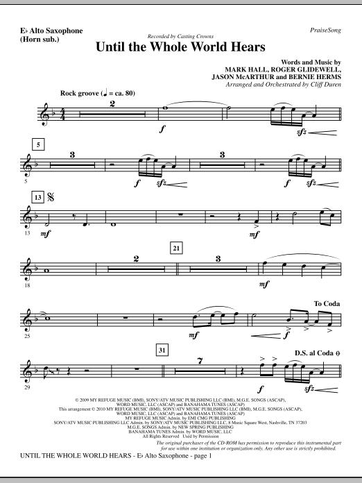 Until The Whole World Hears - Alto Sax (sub. Horn) Sheet Music