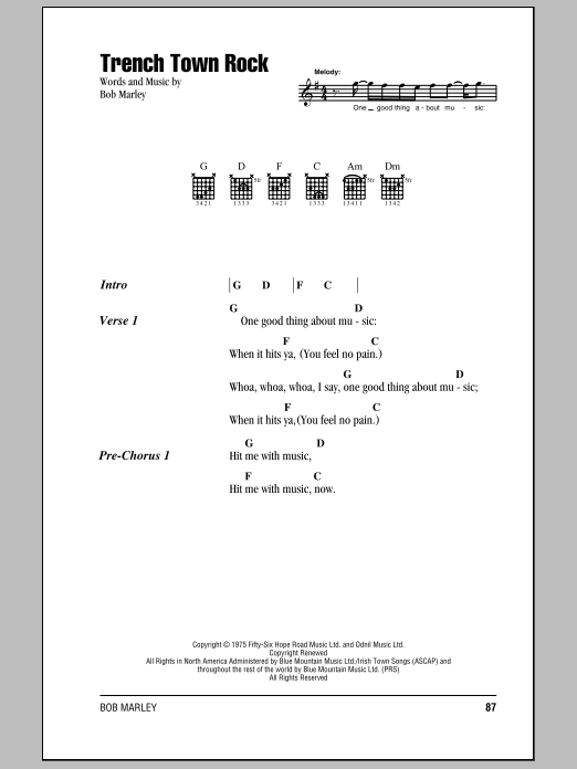 Trench Town Rock Sheet Music