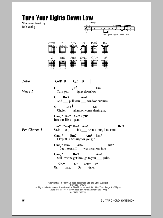 Sheet Preview. Turn Your Lights Down Low  sc 1 st  Sheet Music Direct : turn your lights down low ukulele - azcodes.com