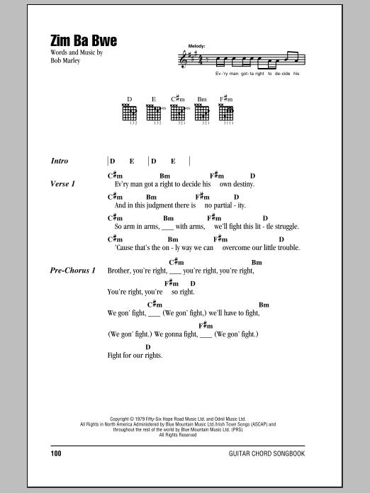 Zim Ba Bwe (Guitar Chords/Lyrics)