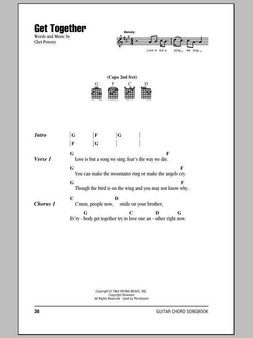 Get Together Sheet Music