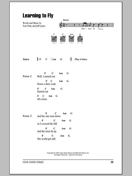 Learning To Fly | Sheet Music Direct