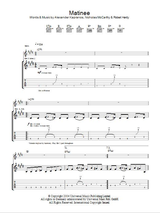 The Dark Of The Matinee Sheet Music