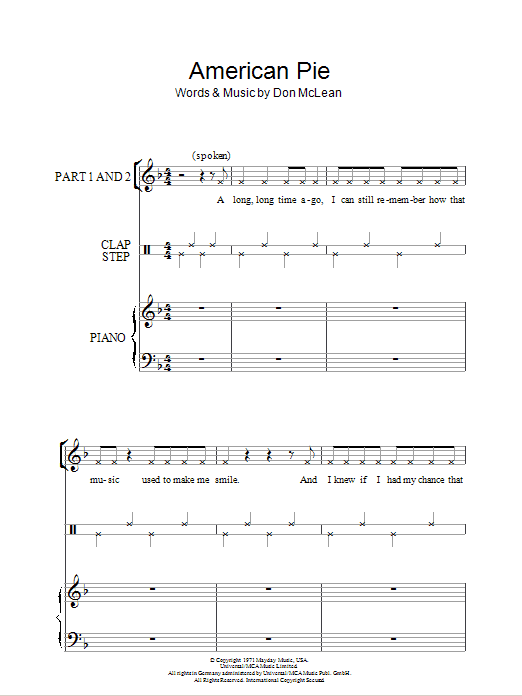 Magnificent American Pie Guitar Chords Component - Beginner Guitar ...