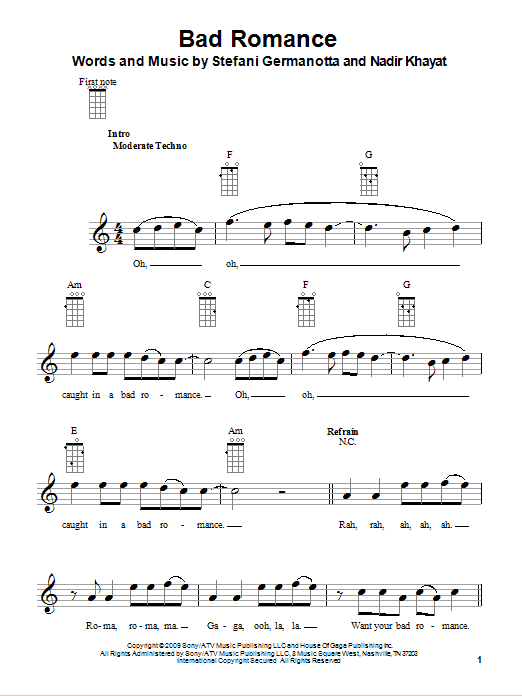 Glee Music From The Fox Television Show For Ukulele Sheet Music By