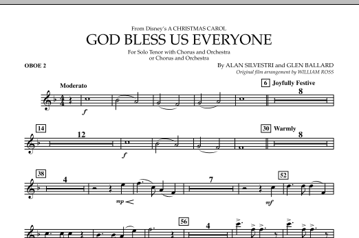 God Bless Us Everyone - Oboe 2 (Full Orchestra)