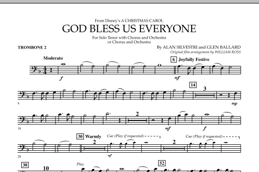 God Bless Us Everyone - Trombone 2 (Full Orchestra)