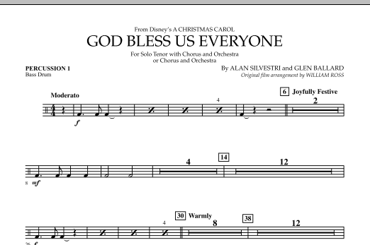 God Bless Us Everyone - Percussion 1 (Full Orchestra)