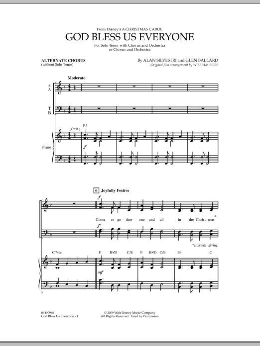 God Bless Us Everyone - Alternate Chorus (Full Orchestra)