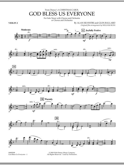 God Bless Us Everyone - Violin 2 (Full Orchestra)