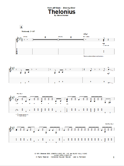Thelonius (Guitar Tab)