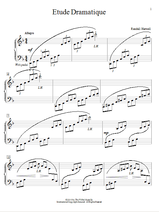 Partition piano Etude Dramatique de Randall Hartsell - Autre