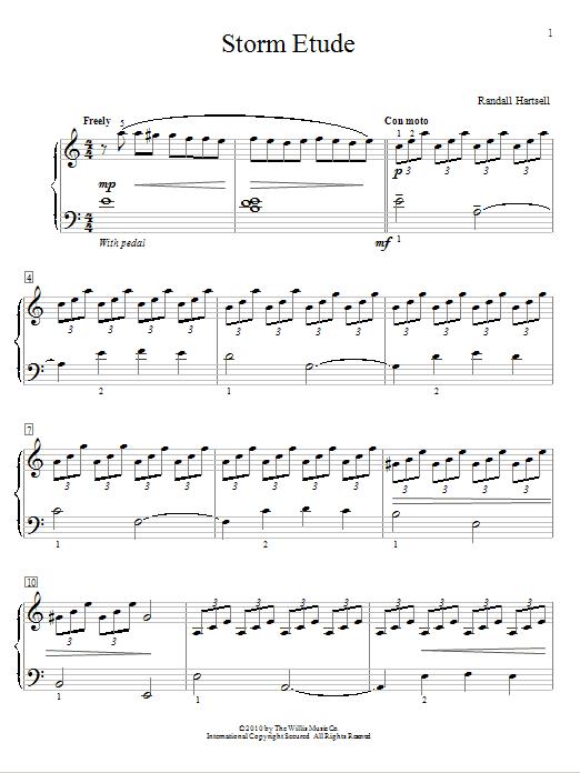 Partition piano Storm Etude de Randall Hartsell - Autre