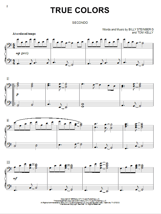 True Colors sheet music by Cyndi Lauper (Piano Duet – 77559) Justin Timberlake Can T Stop The Feeling