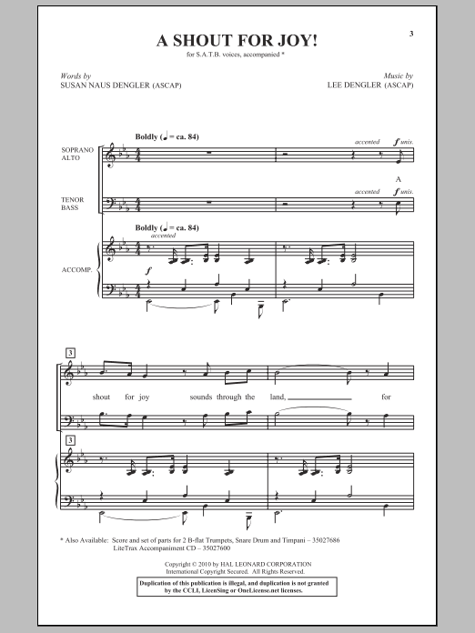 A Shout For Joy! Sheet Music