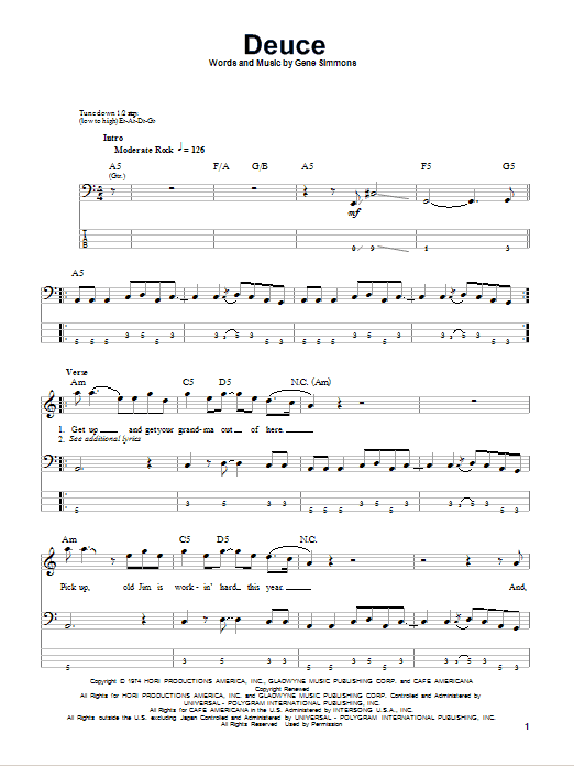 Deuce Sheet Music