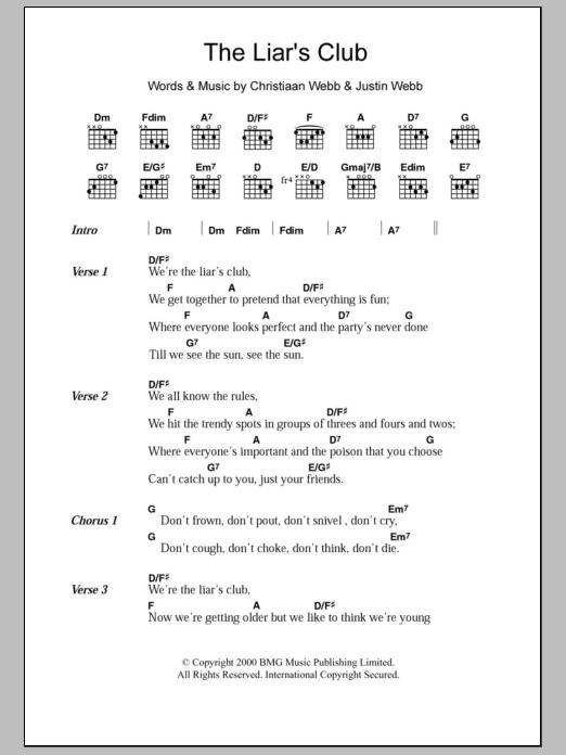 The Liar's Club Sheet Music