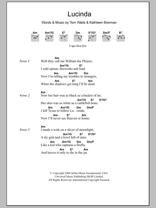 Lucinda Sheet Music
