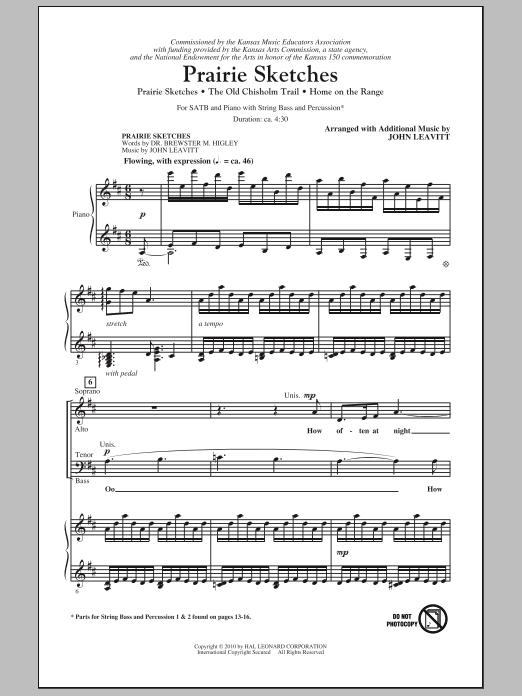 Prairie Sketches (Medley) (SATB Choir)