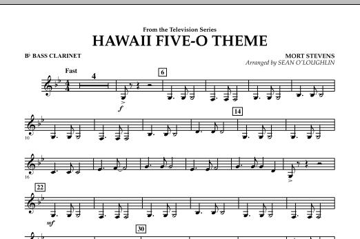Hawaii Five-O Theme - Bb Bass Clarinet (Concert Band)
