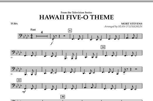 Hawaii Five-O Theme - Tuba (Concert Band)
