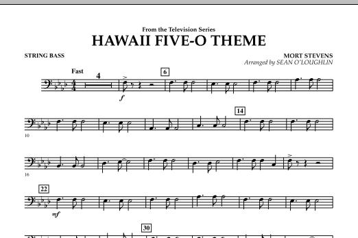 Hawaii Five-O Theme - String Bass (Concert Band)
