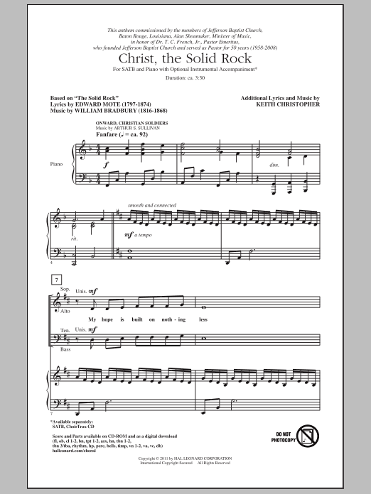 Christ, The Solid Rock Sheet Music
