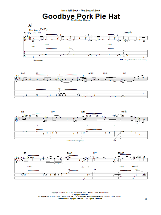 recipe: goodbye pork pie hat piano sheet music [19]