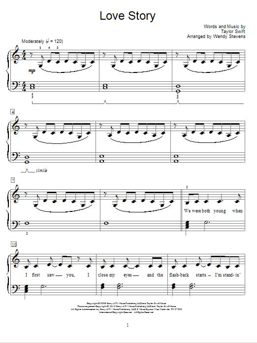Partition piano Love Story de Taylor Swift - Autre