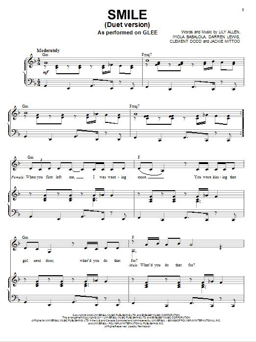 Smile (Vocal Duet) (Piano & Vocal)