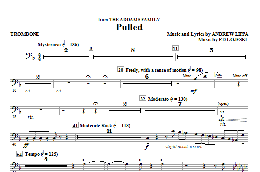 Pulled (from The Addams Family) - Trombone (Choir Instrumental Pak)